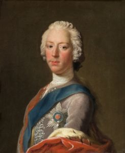 The 1745 portrait of Prince Charles Edward Stuart by the artist Allan Ramsay. Photograph courtesy of the Scottish National Portrait Gallery. NO-F08-Charles Edward Stuart