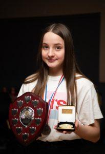 NO F09 Lochaber swim team awards- Dobrochna Czapla. Photograph: Abrightside Photography.