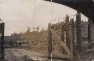 NO F14 POW camp gates