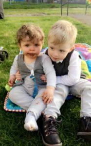 Cole Marshall-McCallum with his big brother Jordan.