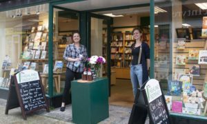 The Highland Bookshop staff were delighted to be open again. Photograph: Iain Ferguson, alba.photos NO F27 Reopening The Highland Bookshop