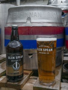 The new beer with an original Glenfinnan Brewery cask. Photograph: Iain Ferguson, alba.photos NO F29 GleanSpean Brewery 02