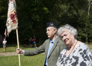 Tearlach MacFarlane with his wife, Isobel, at this month's event marking the 275th anniversary of the 1745 rising, as well as what should have been the 75th Glenfinnan Gathering. Photograph: Iain Ferguson, alba.photos NO F35 Glenfinnan Gathering 2020 05