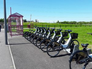 The Fort William ebike scheme will be similar to the Forth Bikes project, seen here. NO F38 forth bikes docking