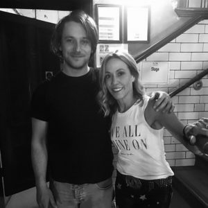 Colin Macleod with Sheryl Crow, who sings on the new album. NO F42 Colin and Sheryl Crow