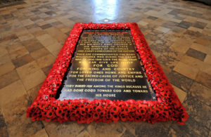 The grave of the Unknown Warrior in Westminster Abbey. Photograph: © Dean and Chapter of Westminster. NO-F46-grave-unknown-warrior-scaled.jpg