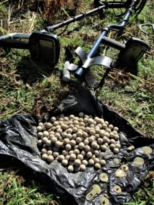 Over 200 musket balls were among the finds. Photograph: Conflicts of Interest. NO F47 jacobite hoard 01