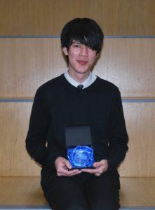 Caius Walker, winner of Campbeltown Grammar School's 2019 dux prize