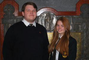 Campbeltown Grammar School captains Richard Semple and Brodie MacLaren.