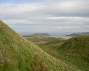 While Kintyre is not particularly mountainous, it has some steep hills like this one on Knockscalbert