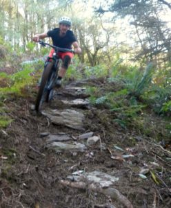 The trails on Campbeltown's Beinn Ghuilean are frequented by mountain bikers like James MacNab, photographed here at an event held last year.