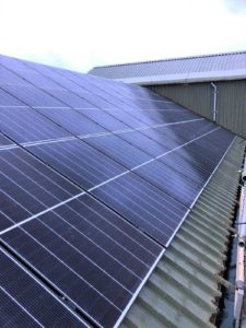 A £94,000 investment has seen 174 roof-mounted solar PV panels installed at Campbeltown Water Treatment Works.