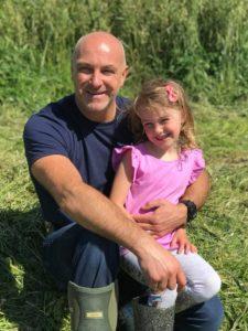 David Mullen with his daughter Amara.