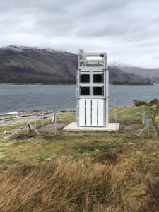 The new solar-powered tower at Corran Narrows. NO F14 Corran lighthouse 03