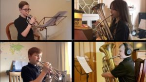 Several members of Campbeltown Brass took part in the SBBA's Solo and Ensemble Festival, held virtually this year, meaning they had to record their own performances.