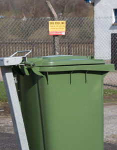 One of the bins where local dog owners in Caol can deposit their pets' droppings. Photograph: Iain Ferguson, alba.photos NO-F15-Caol-Dog-Disposal-02.jpg