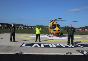 Campbeltown-based healthcare providers, from left: Dr Gordon Anderson and paramedics Scott Ramsay and Graeme McLennan.
