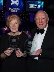 Belle Robertson and Jock MacVicar became the first non-Tour professionals to enter Scottish golf's Hall of Fame in 2017. Photograph: Kenny Smith.