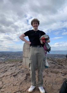 Gregory Wemyss is taking on the challenge in aid of Alzheimer Scotland.