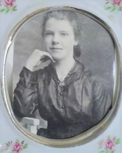 Clare's great grandmother, Grace McNab Bridge, as a young woman in the early 20th century.