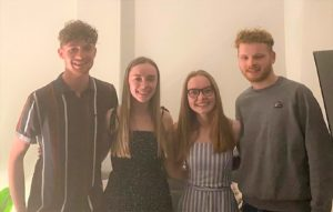 From left: Bede Patterson, Alex Wotherspoon,Emma Hill and Malachy Arnold.