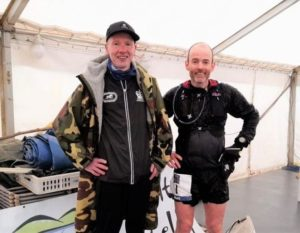 Men's solo race winner Nicholas Gemmell, left, and 4th placed finisher Mark Webster, who both celebrated their birthdays on Saturday.