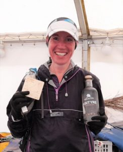 Alexandra Kane, the first lady home, smashed the women's course record.