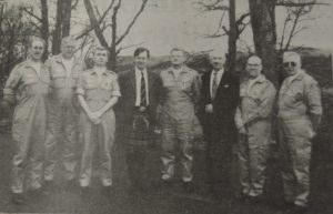 In 1996: Malcolm Black is second from the left, while Ronnie Hamilton is second from the right in this photograph taken at the award ceremony in Oban.
