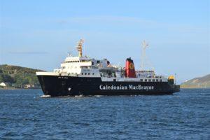 The MV Isle of Arran returned to Campbeltown last week.