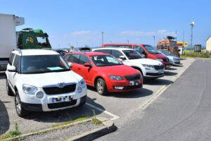 Many visitors are forced to park outwith the marked bays on busy days.