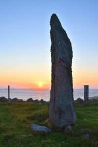 People have been drawn to standing stones, like the one at Beacharr, at solstices for thousands of years.
