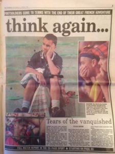 David Paterson sums up the national mood after World Cup elimination in Saint Etienne, France, June 1998.