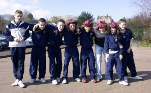 Youngsters Garry Macaulay, Glen McMurchy, Lewis Anderson, Lewis McFadyen, Stuart Crossan, Greig Gillespie, Neil McFadyen and Charles Lang pictured at Luss before a match in 2007.