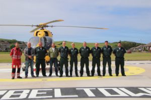 Some of the life-saving paramedics who will benefit from the state-of-the-art facility.