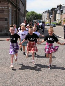 The girls were in good spirits throughout the sponsored walk.Photograph: Kenny Craig.