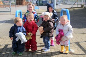The tots were armed with their favourite teddies as they completed the sponsored walks.