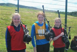 The event even had its own pipers in the form of Hannah Millar, Emma Millar and Freya Borthwick.