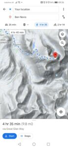 Screenshot showing the normal route up Ben Nevis. NO F30 Ben_Nevis_showing_normal_mountain_route