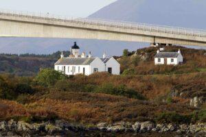 The cottages on Eilean Ban. Photograph: Eilean Ban Trust. NO F31 Maxwell island