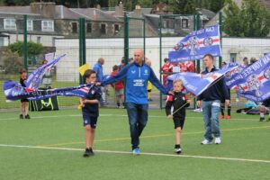 Campbeltown Loyal Rangers Supporters' Club chairman Billy Gilchrist organised the event. Photograph: Kenny Craig.