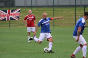 Alex Rae during the charity match. Photograph: Kenny Craig.
