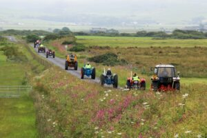 The convoy travelled to Campbeltown via the Moss Road.