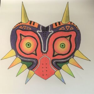 Artwork by a youngster known as S, depicting Majora's Mask from the Legend of Zelda franchise, also impressed the project's organisers.