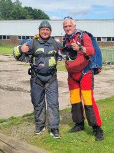 Jason McCallum thoroughly enjoyed the skydive.