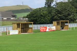 Kintyre Park's new dugouts.