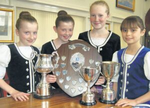 In 2011: The other James McCorkindale dancers who picked up silverware at Cowal Highland Gathering, from left: Iona MacKinlay, Linzi Cameron, Emma Bannatyne and Eilidh Anderson.