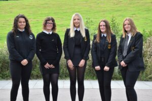 Sports captains, from left: Astrid MacLellan,Caryn Kerr, Caitlin Russell, Heather Millar and Beth Bannatyne.