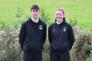 sportscotland Young Ambassadors Kyle Paterson and Jane Scott.