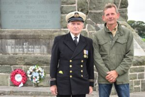 John Manning and Stuart Lawson, who attended the commemoration in memory of his late father.
