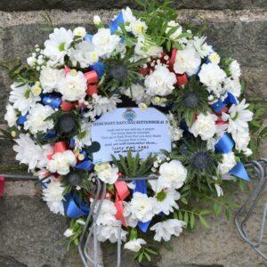 John Manning's Merchant Navy Day wreath.
